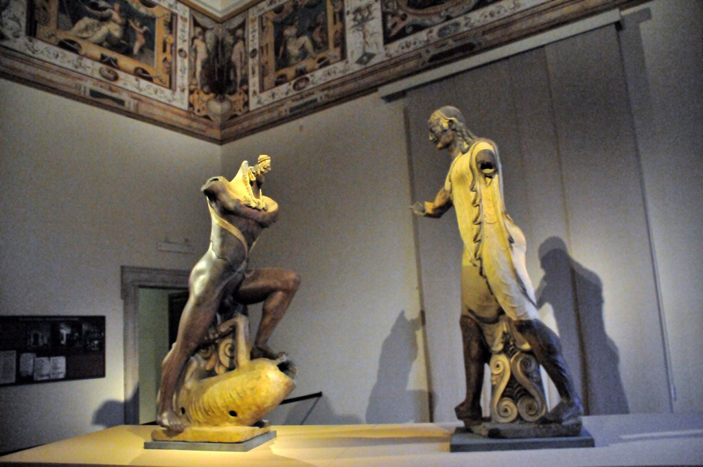 Stock Photo: 4292-70282 Italy, Lazio, Rome, Villa Giulia, the Etruscan Museum, Apollo of Veio, Etruscan Art, Painted Terracotta.