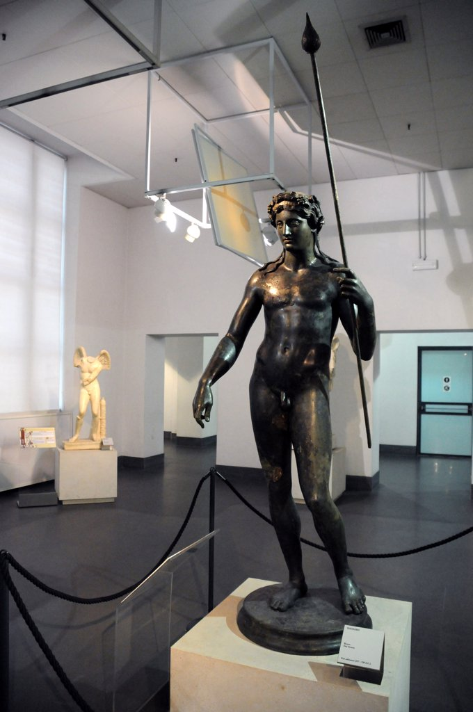 Italy, Lazio, Rome, Massimo Palace National Museum, Bronze Statue. : Stock Photo