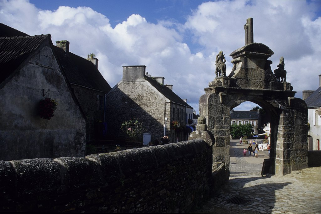 Stock Photo: 4292-70366 France, Brittany, Northern Finistére, Guimiliau, Parish Enclosure, Entrance Portal to the Enclosure.