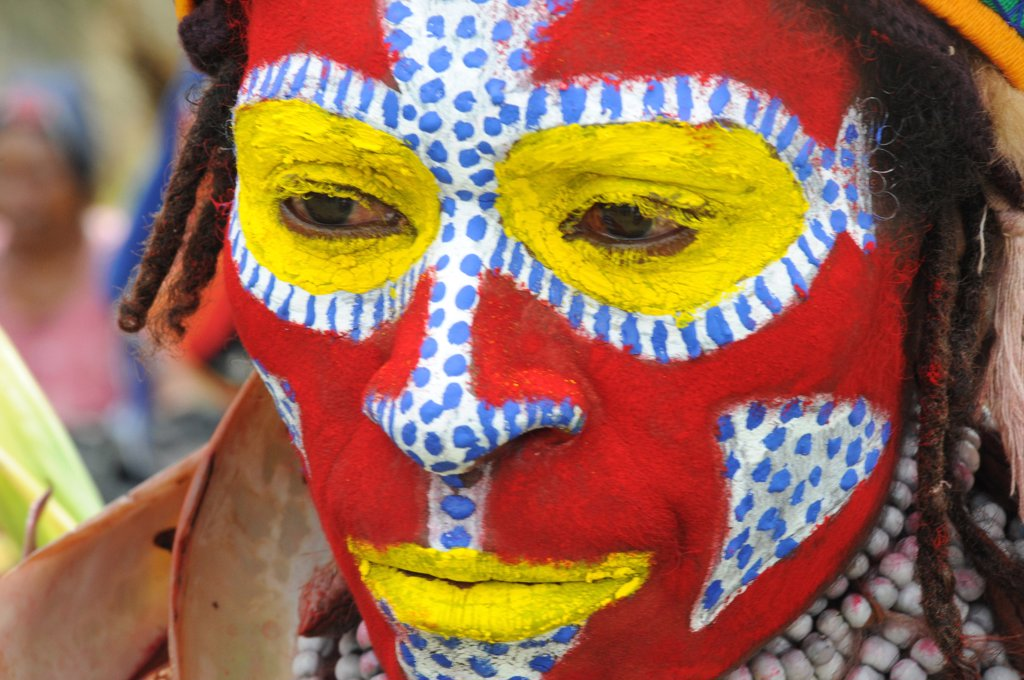 Stock Photo: 4292-70414 Papua New Guinea, highland festival, tribe women portrait