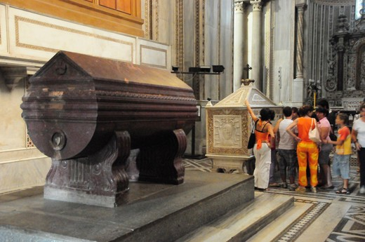 Italy, Sicily, Plaermo region, Monreale cathedral, Norman architecture, the sarcophagus of King William I and Williams II : Stock Photo