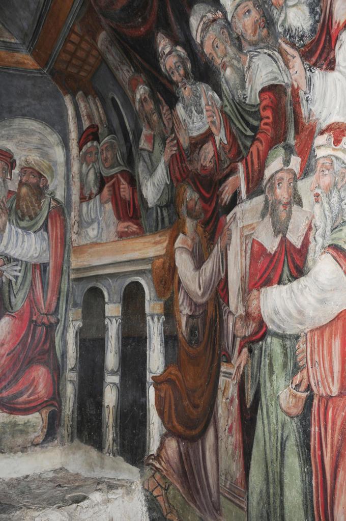 Italy, Sicily, Castelbuono, Matrice Vecchia church, crypt, frescos : Stock Photo