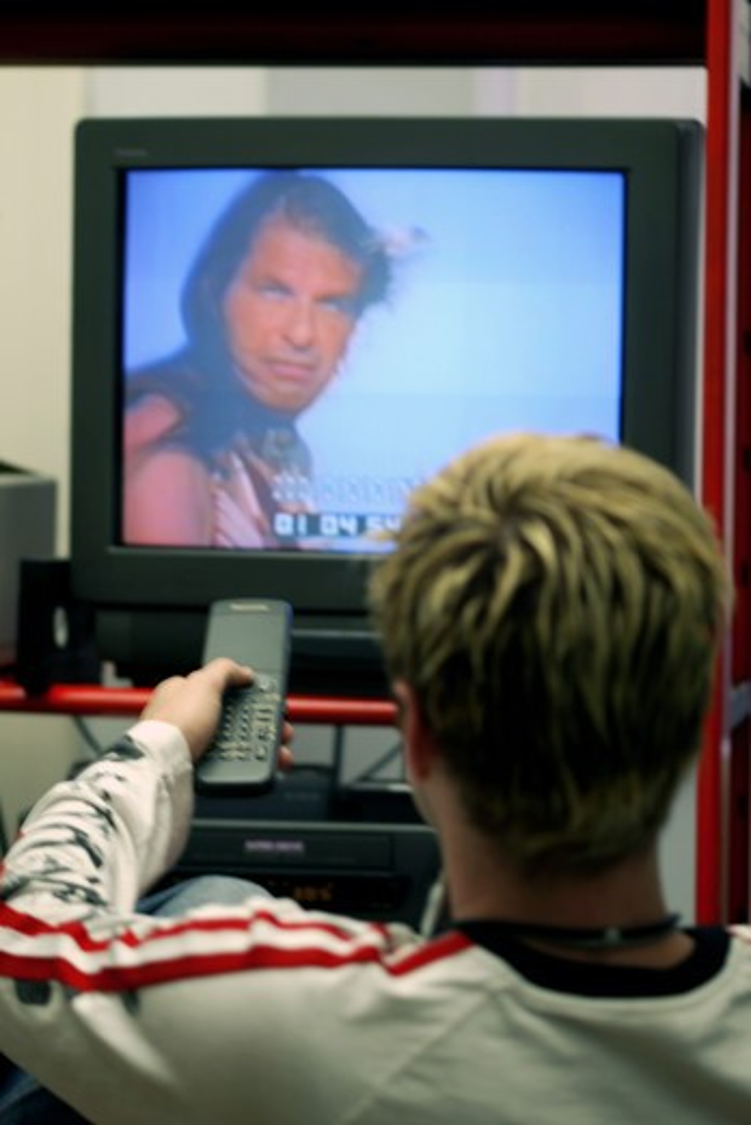 Stock Photo: 4292-73605 Man watching tv