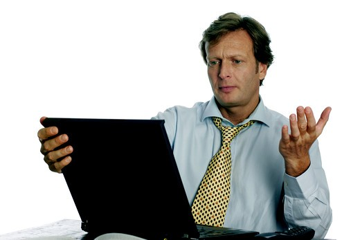 Stock Photo: 4292-74651 Portrait of a businessman, disappointed