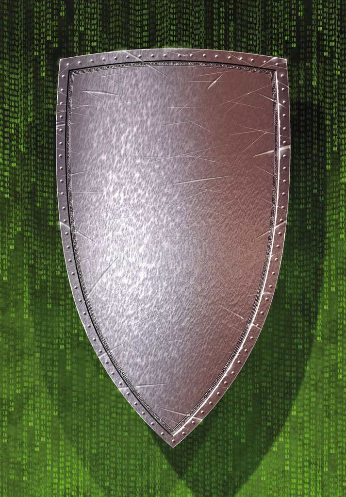 Stock Photo: 4292-76570 Shield hanging on a wall