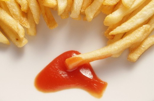 Stock Photo: 4292-76851 French fries and ketchup