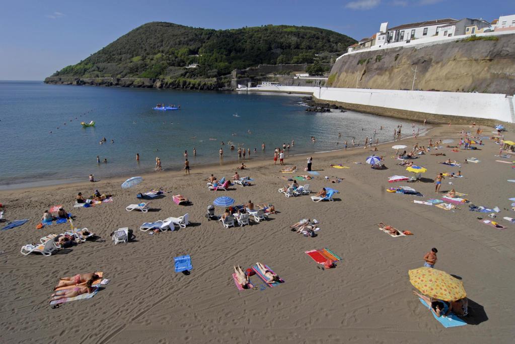 Stock Photo: 4292-77632 Portugal, Azores, Terceira Island, Angra do Heroismo, beach