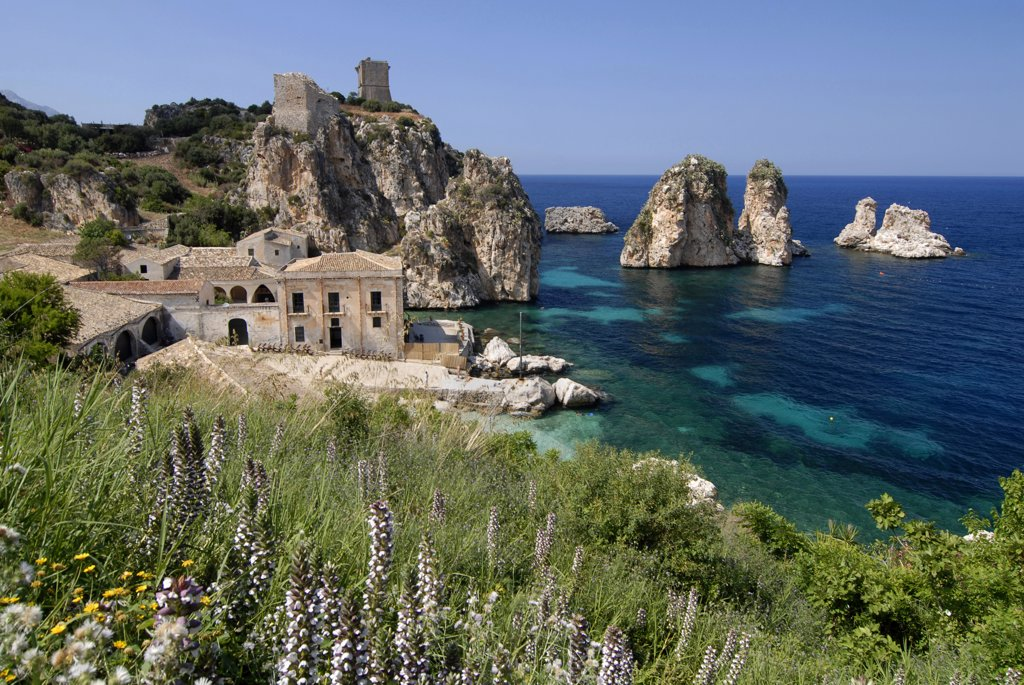 Stock Photo: 4292-77858 Italy, Sicily, Castellammare del Golfo (TP). Tonnara di Scopello