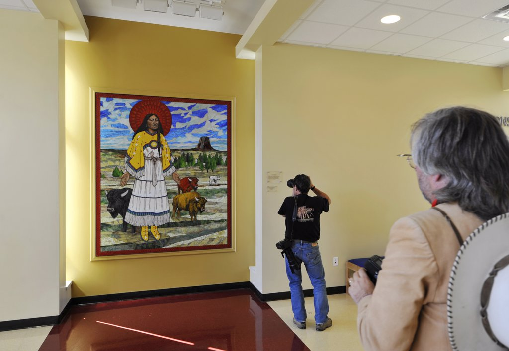 Stock Photo: 4292-78702 USA, South Dakota, Pine Ridge Indian Reservation, Wounded Knee museum