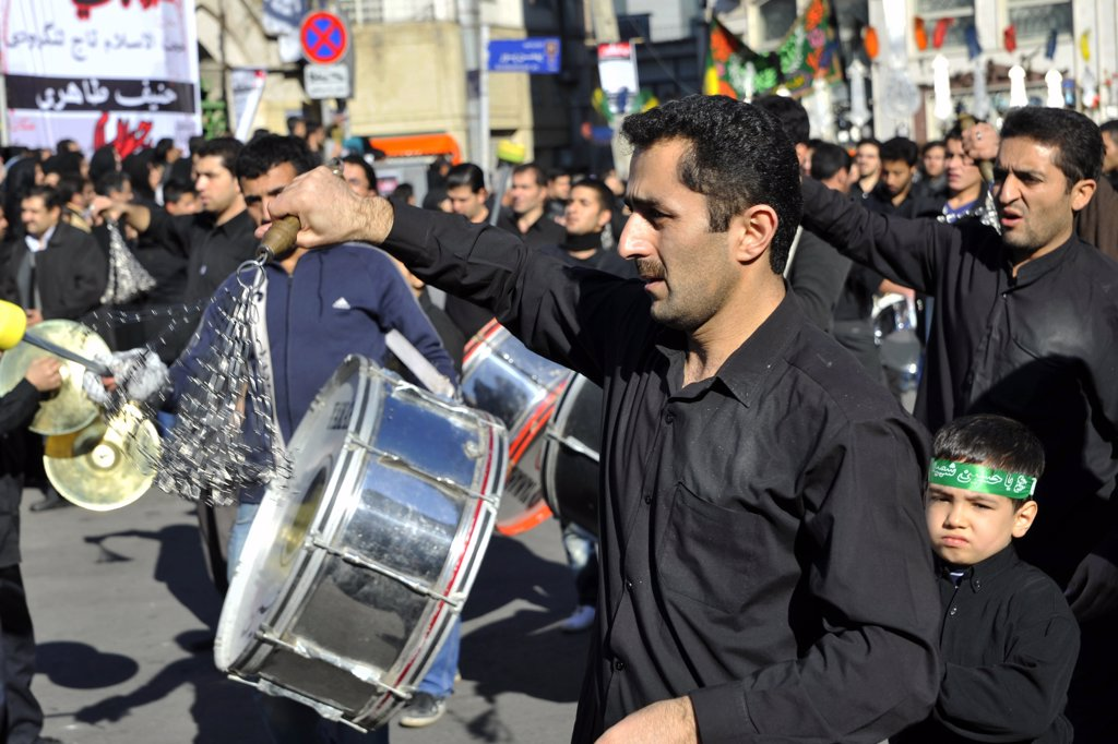 Stock Photo: 4292-79032 Iran, Teheran, Celebration of Ashura which Commemorates the Death of the Prophet Hosein