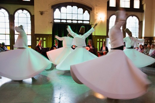 Stock Photo: 4292-79281 Turkey, Istanbul, whirling dervishes ceremony