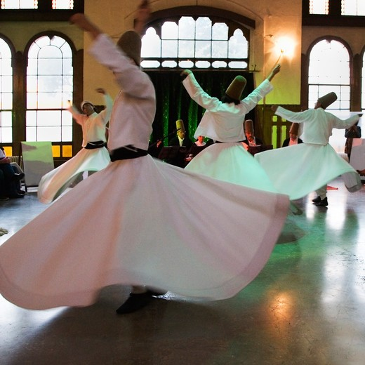 Stock Photo: 4292-79282 Turkey, Istanbul, whirling dervishes ceremony