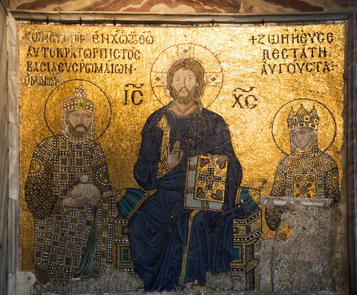 Turkey, Istanbul, Agia Sofia church, byzantine mosaics : Stock Photo