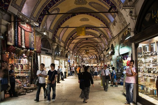 Turkey, Istanbul. Interior of Grand Bazaar (Kapali Carsi) : Stock Photo