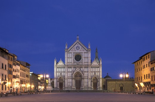 Stock Photo: 4292-80081 Tuscany, Florence, Santa Croce church
