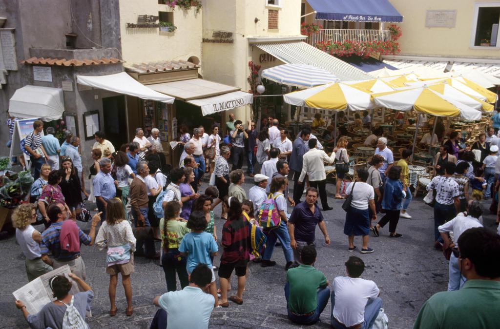 Italy, Campania, Capri, cafe : Stock Photo