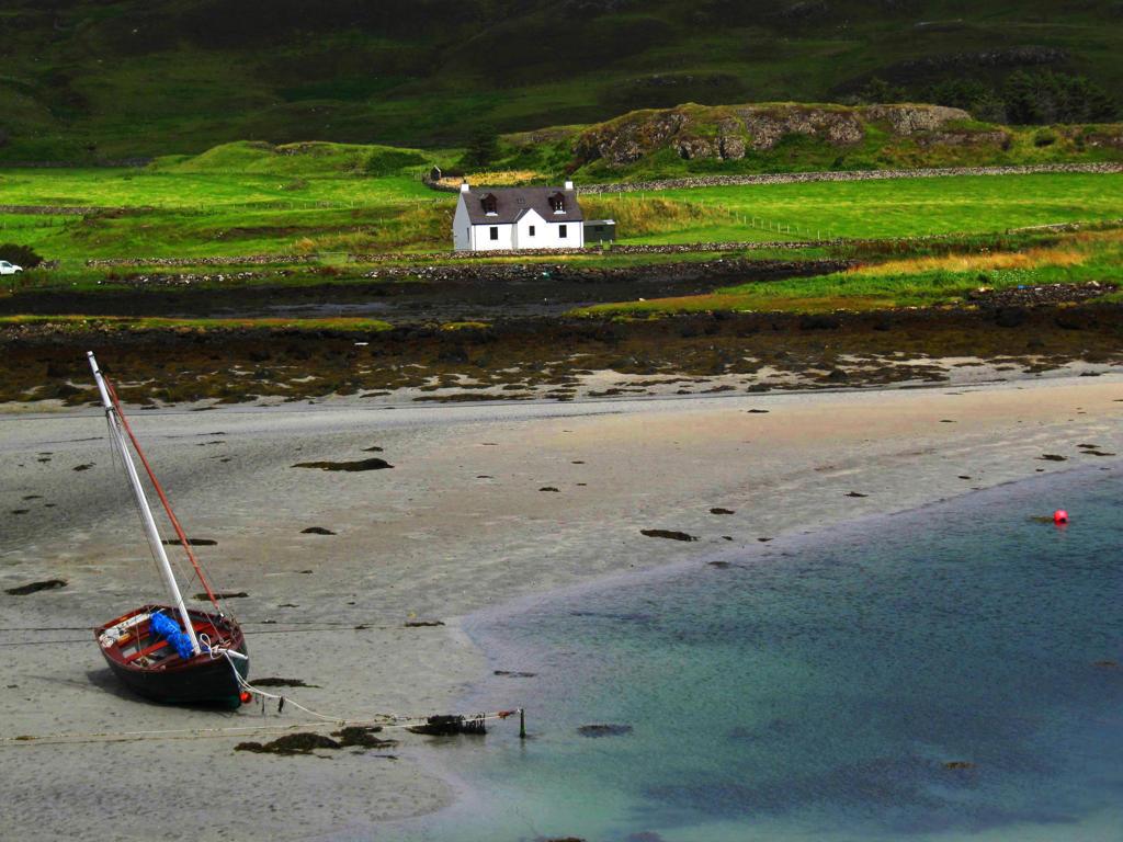 Stock Photo: 4292-82030 UK, Scotland, Canna Island, Beach