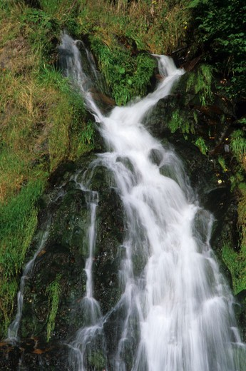 France, Auvergne, Waterfall of Chaudefour : Stock Photo