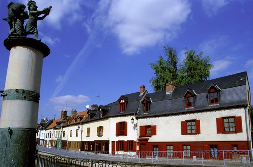 France,Amiens, Picardy, Saint Leu district : Stock Photo