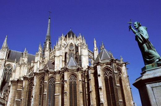 Stock Photo: 4292-83404 France, Amiens, Picardy, cathedral