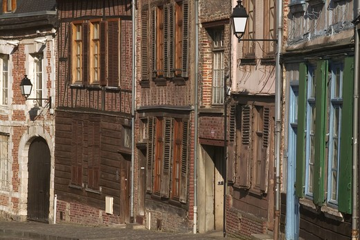 Stock Photo: 4292-83418 France, Old street in Amiens, Picardy, France
