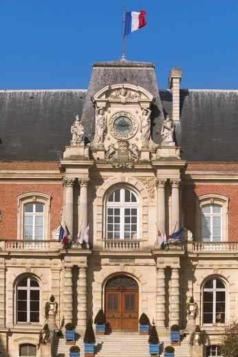 France, Amiens, Picardy, city hall : Stock Photo