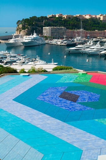 Monaco, Montecarlo, terrace by Victor Vasarely : Stock Photo