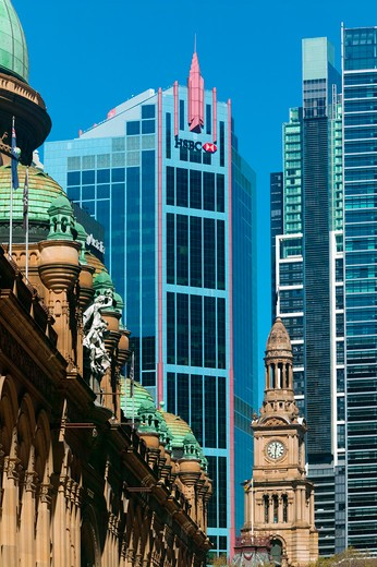 Stock Photo: 4292-84273 Australia, Sydney, the city hall, Queen Victoria building