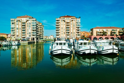 France, Languedoc-Roussillon, Lattes, Port Ariane, Harbour. : Stock Photo