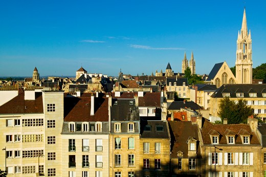 Stock Photo: 4292-84664 France, Normandy, Calvados, Caen, town view
