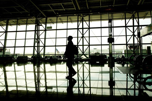 Stock Photo: 4292-85744 Belgium, Brussels, airport waiting area