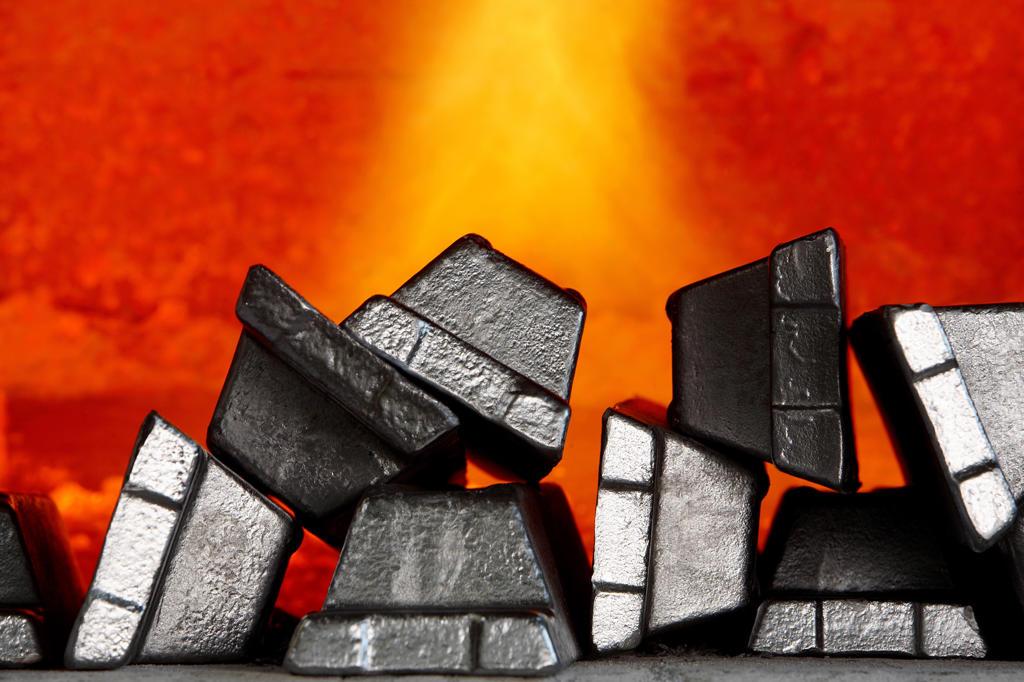 Aluminum bars : Stock Photo