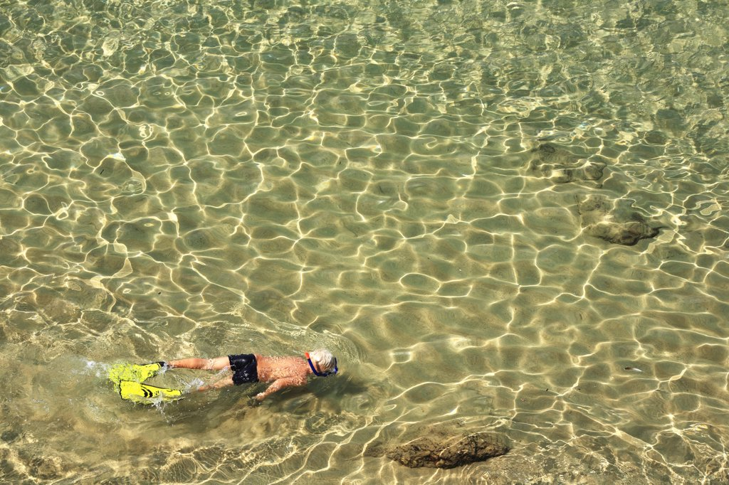 Stock Photo: 4292-86365 Man swimming