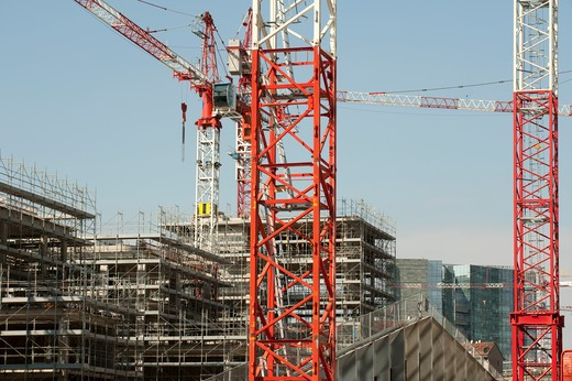 Italy, Lombardy, Milan, Porta Nuova Garibaldi Tower construction site : Stock Photo