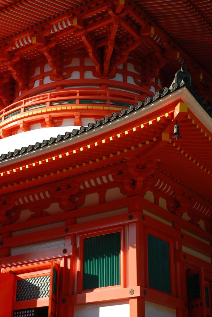 Stock Photo: 4292-91180 Japan, Honshu, Wakayama, Koya San Temple, Detail Roof