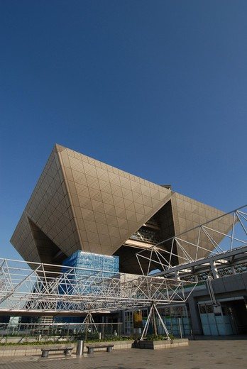 Stock Photo: 4292-91191 Japan, Tokyo, The Big Sight, Modern Architecture