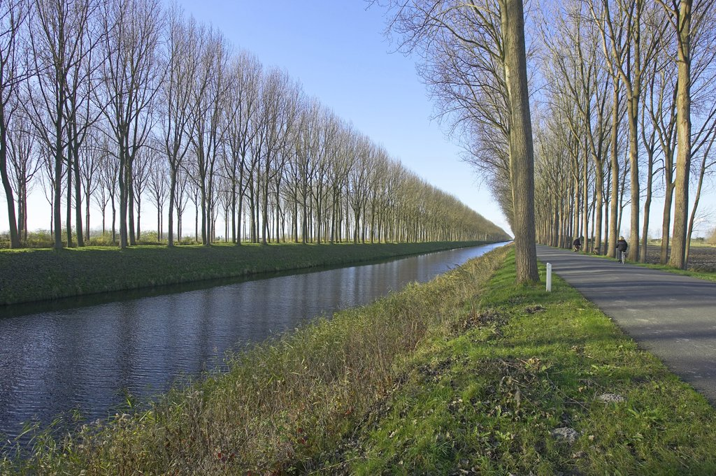 Stock Photo: 4292-91830 Belgium, West Flanders, canal of Damme