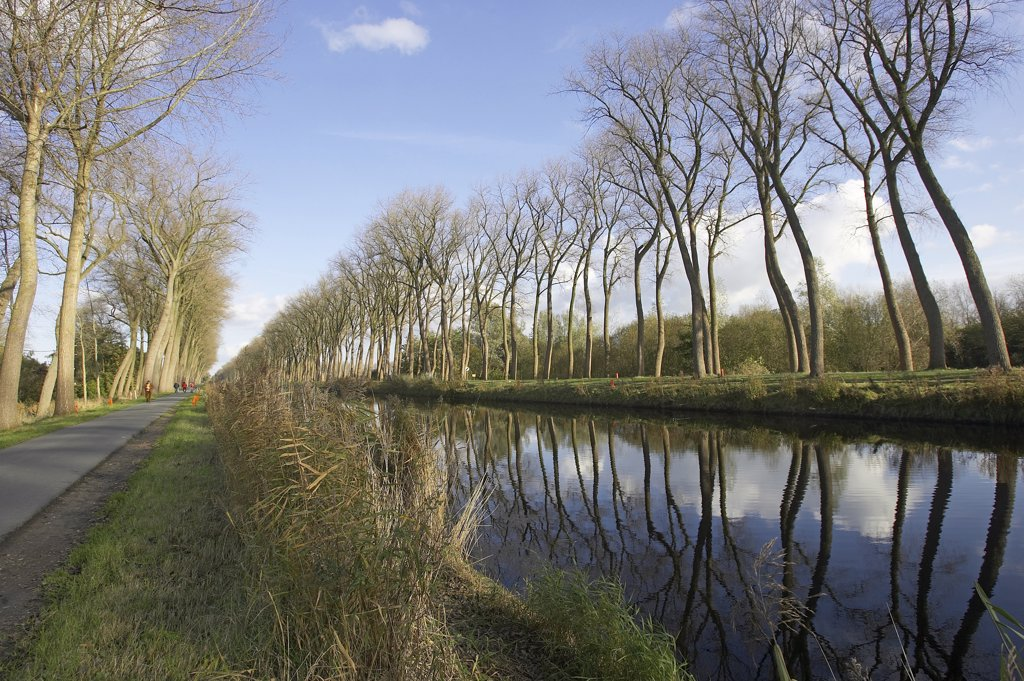 Belgium, West Flanders, canal of Damme : Stock Photo