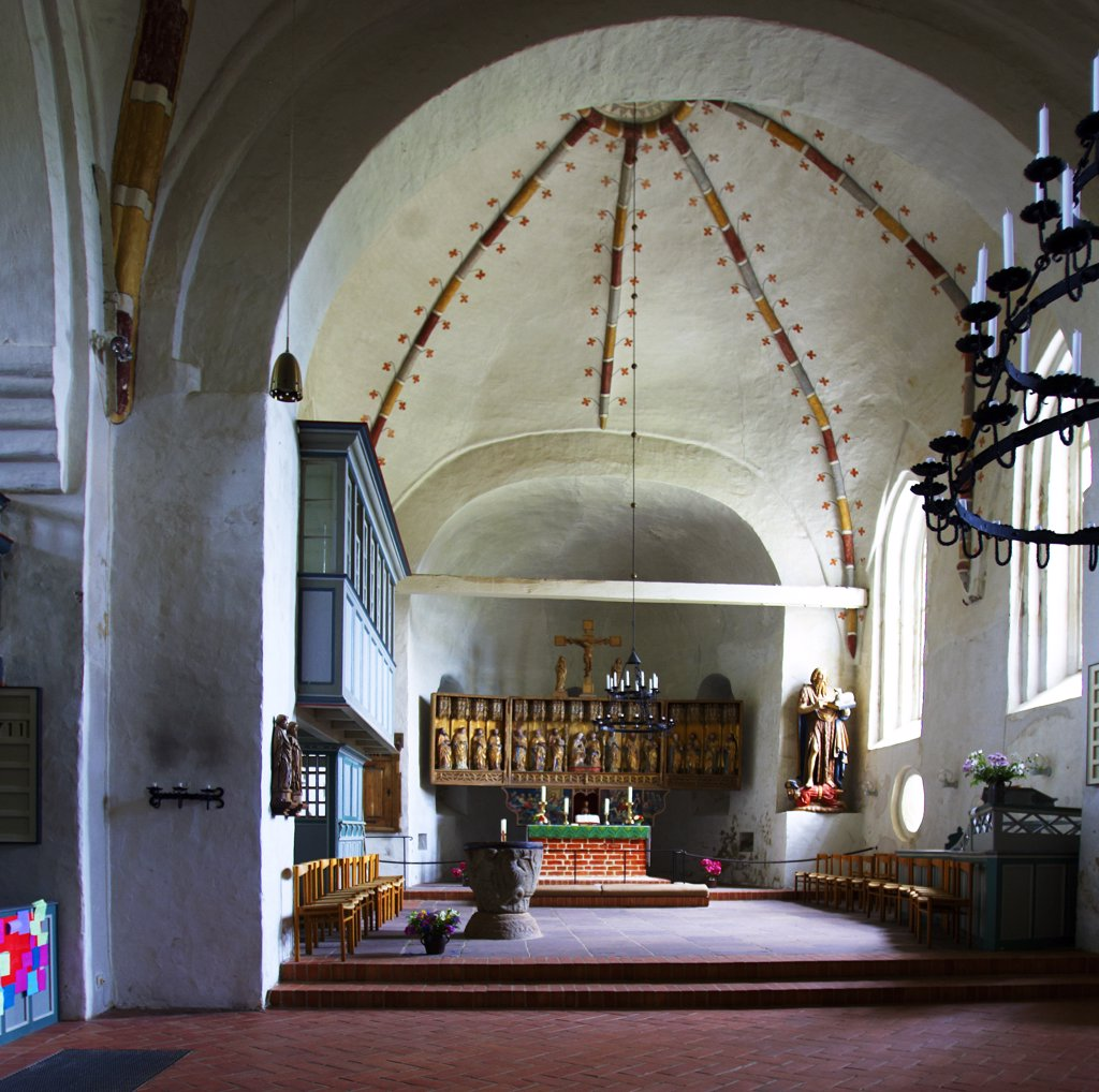 Stock Photo: 4292-92605 Germany, Schleswig-Holstein, Fohr island: St John  church