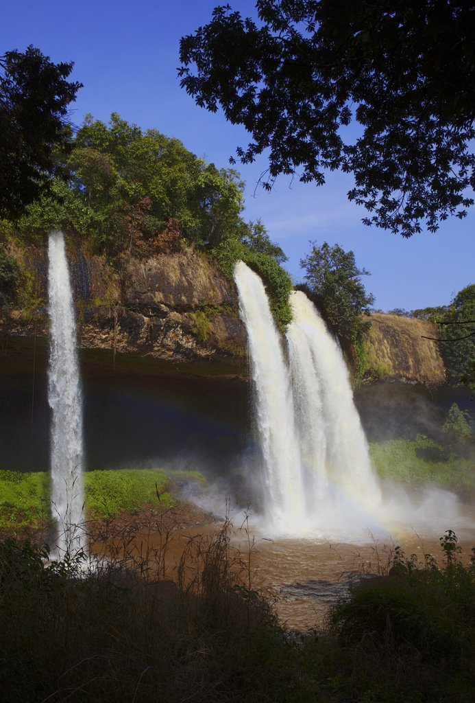 Africa, Cameroon, Adamaoua, Tello waterfall : Stock Photo