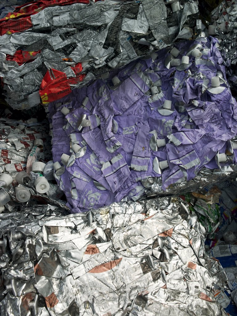 Aluminum recycling plant : Stock Photo