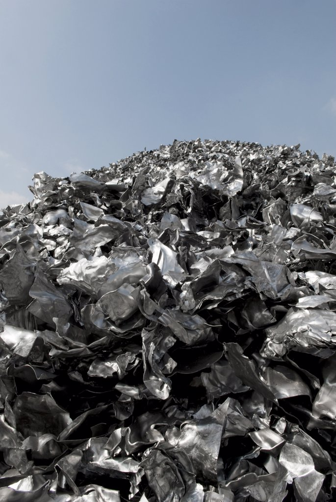 Stock Photo: 4292-96724 Aluminum recycling plant