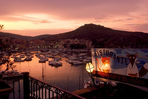 Italy, Tuscany, Porto Ercole at sunset : Stock Photo