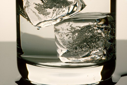 Still life of a glass with ice cubes Hall : Stock Photo