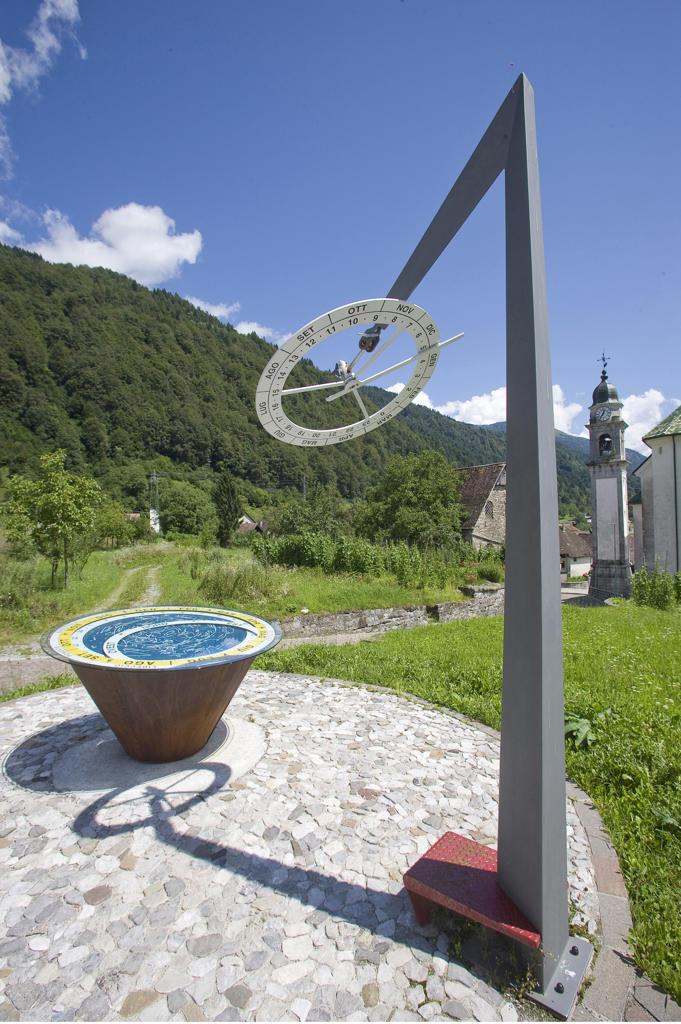 Italy, Friuli Venezia Giulia, Pesariis, Clock : Stock Photo