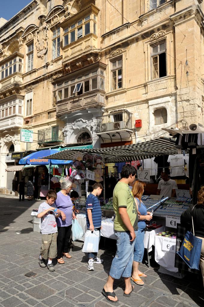Malta, Valetta, town center market : Stock Photo