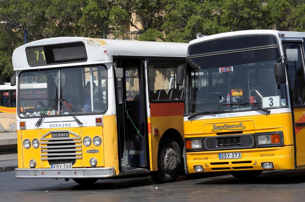 Malta, Valetta, bus station : Stock Photo