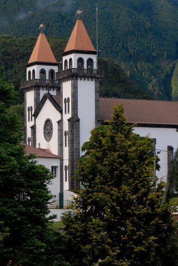 Stock Photo: 4292R-146429 Portugal, Azores, Sao Miguel Island, Furnas, church