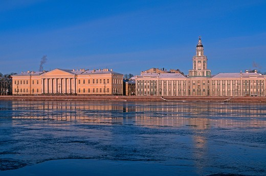 Russia, St. Petersburg, Vasilievsky island, the Anthropological museum : Stock Photo