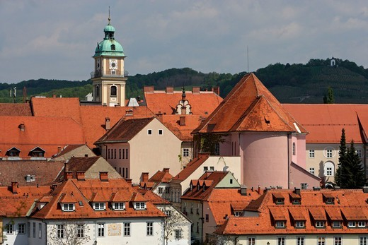 Maribor,old town,Cathedral Church of St John the Baptist,St Alosius's church,Slovenia : Stock Photo